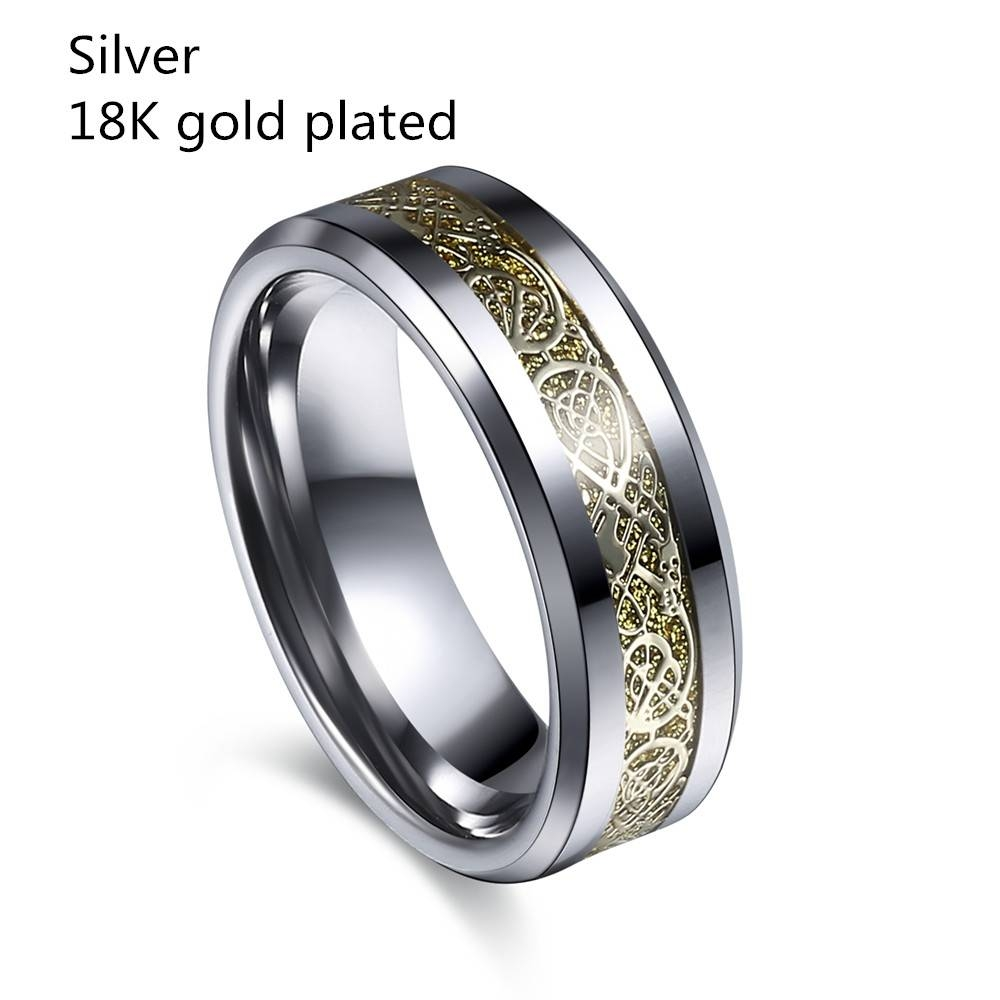 The Lord Of The Rings Wedding Ring Gold Plated | Hobbit Mall Throughout Lord Of The Rings Wedding Bands (View 6 of 15)