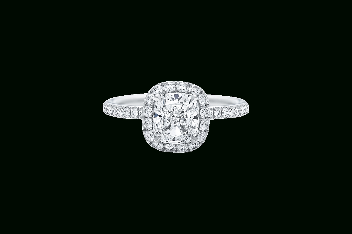 The One Cushion Cut Engagement Ring | Harry Winston Regarding Harry Winston Micropave Engagement Rings (Gallery 2 of 15)