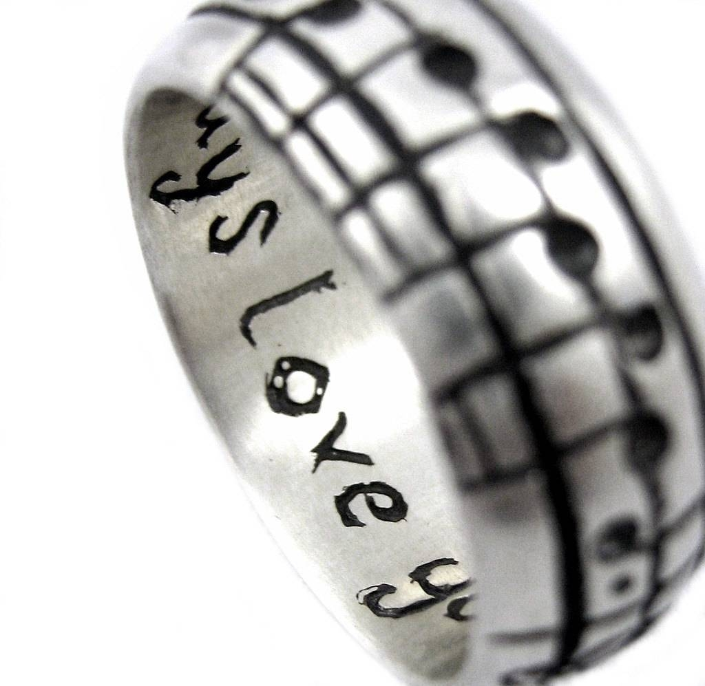 The Original Music Notes Ring Sterling Music Wedding Ring With Regard To Music Wedding Rings (View 12 of 15)