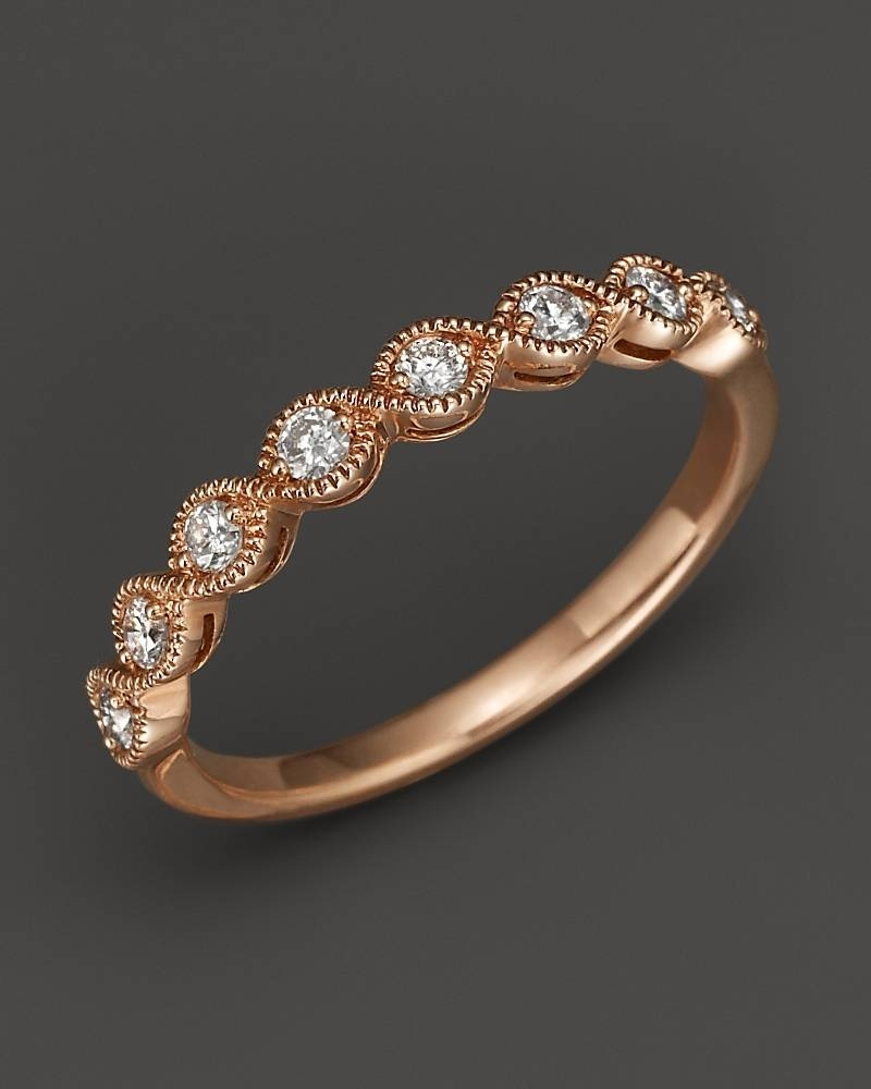 These Rose Gold Engagement Rings Will Have You Thinking Pink Regarding Wedding Rings That Looks Like A Rose (View 5 of 15)
