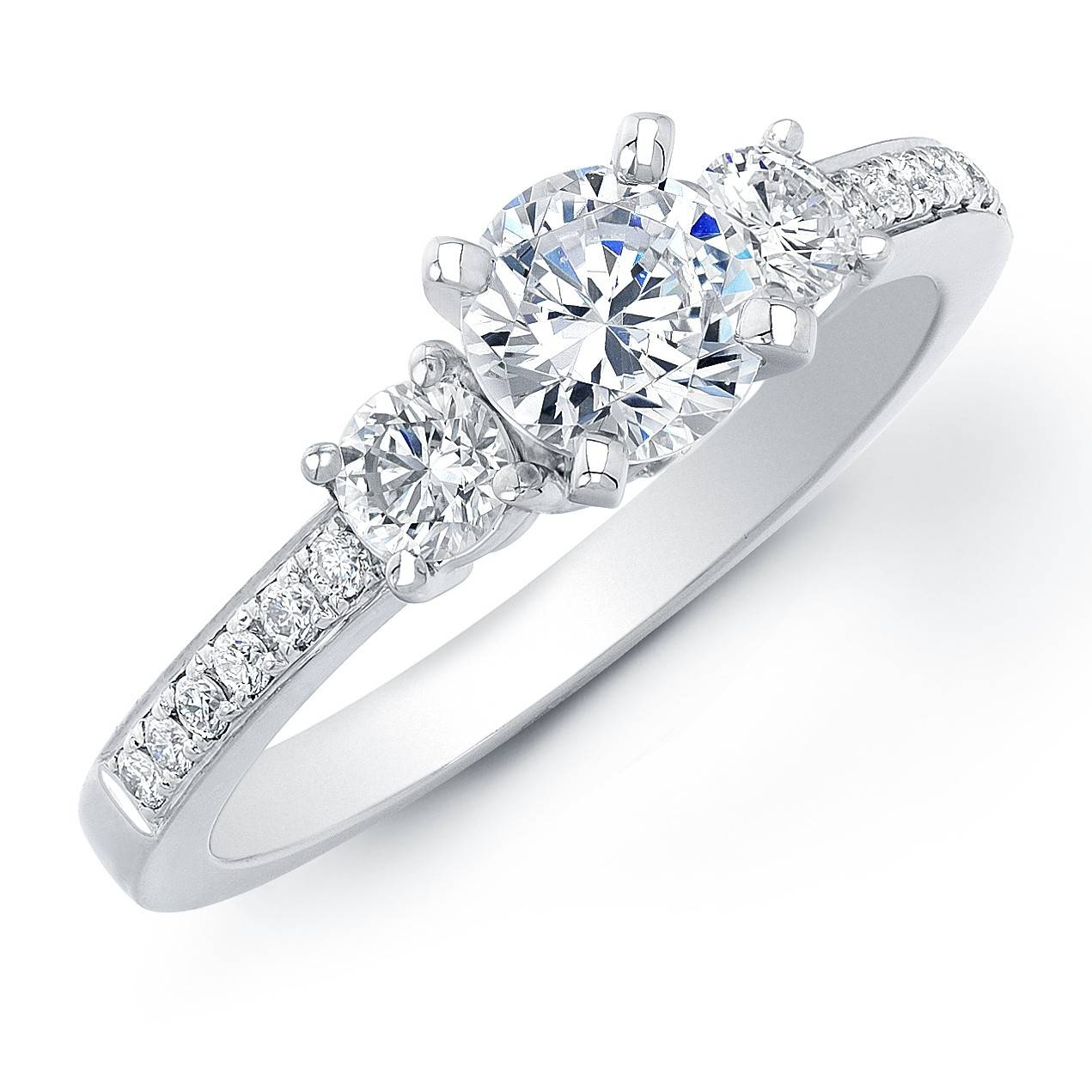 Three Stone Diamond Engagement Rings | Three Diamond Engagement Rings Regarding Three Stone Wedding Rings (View 13 of 15)