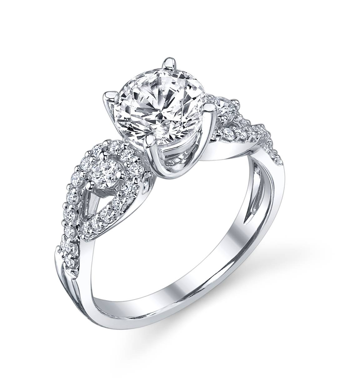 Three Stone Infinity Engagement Ring | Indianapolis Rings With Infinity Wedding Rings (View 15 of 15)