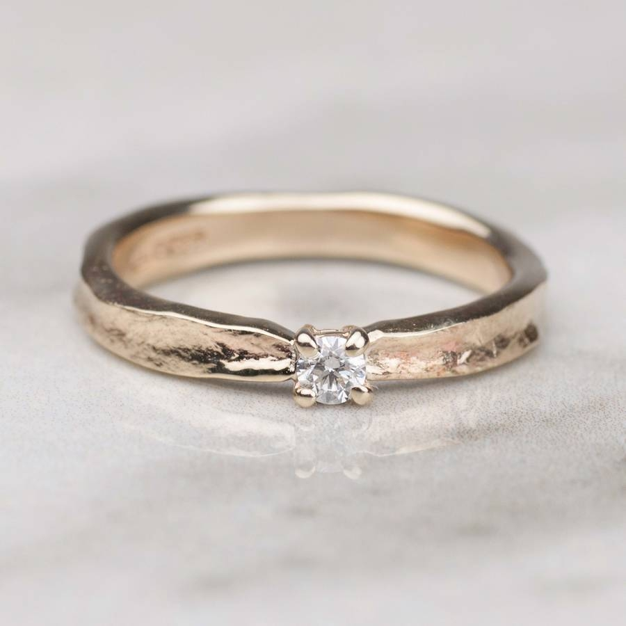 Thumbelina Solid Gold Diamond Engagement Ringalison Moore Inside Keepsake Wedding Bands (View 12 of 15)