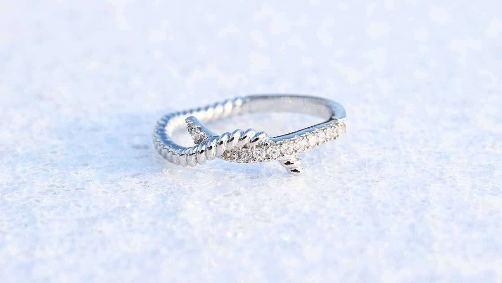 Tie The Knot Monogram Ring | Ashley Maria Incorporated Within Tie The Knot Engagement Rings (Gallery 7 of 15)
