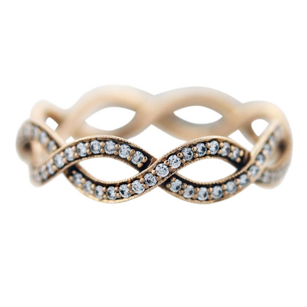 Tiffany And Co Rose Gold Diamond Infinity Ring  Boca Raton In Infinity Engagement Rings And Wedding Bands (View 13 of 15)