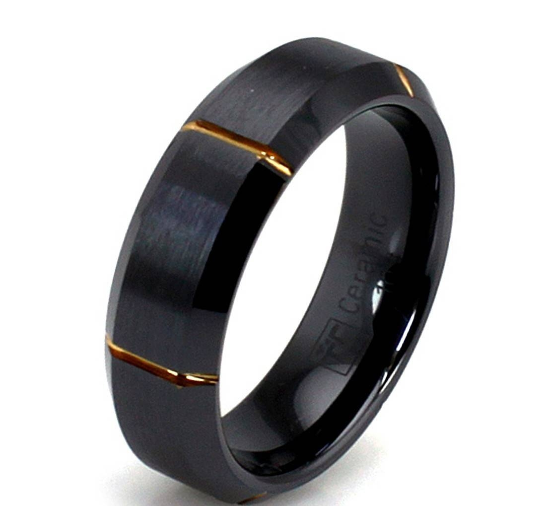 Tips On How To Choose Men Black Wedding Bands | Wedding Ideas In Black And Gold Mens Wedding Bands (View 13 of 15)