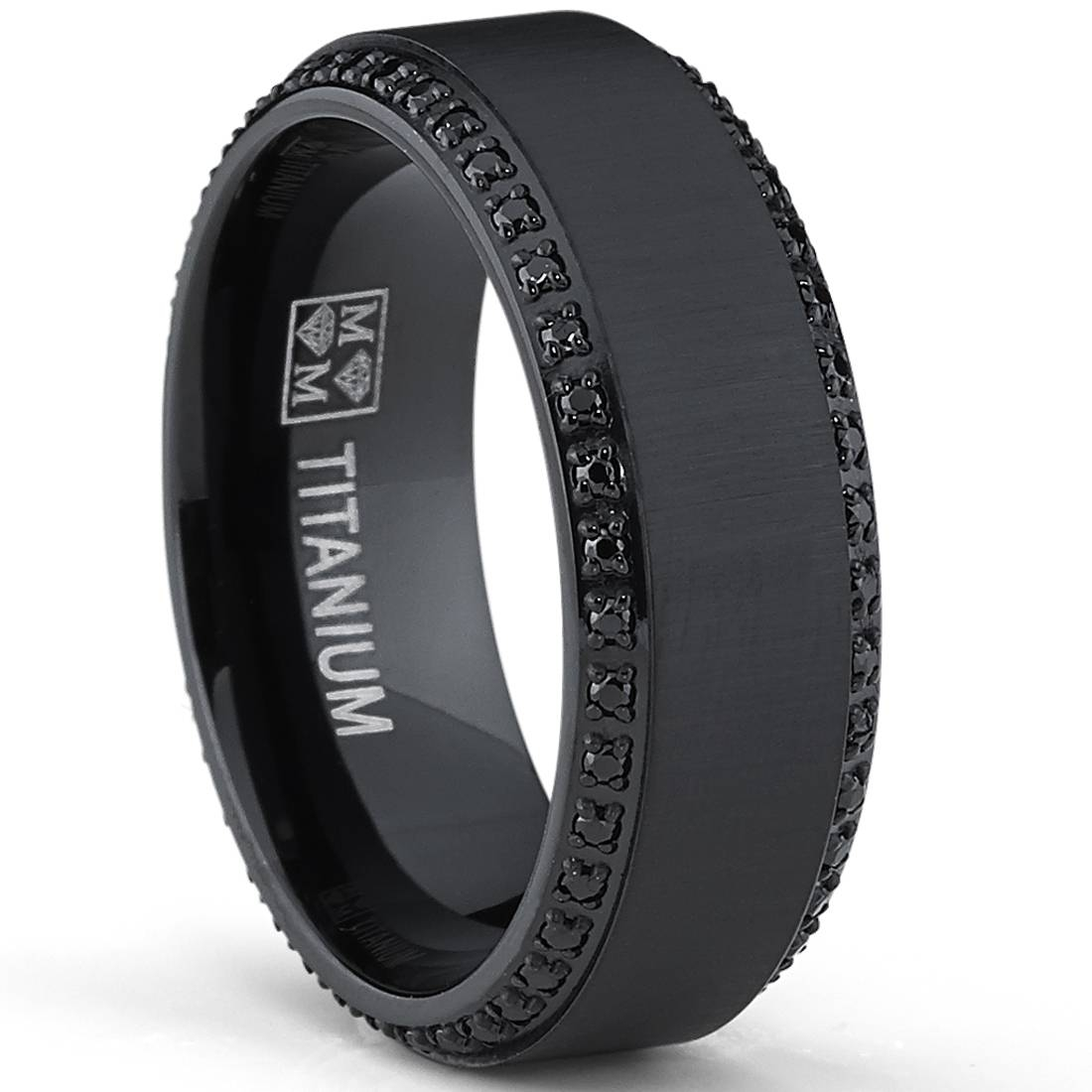 Featured Photo of Men's Black Wedding Bands With Diamonds