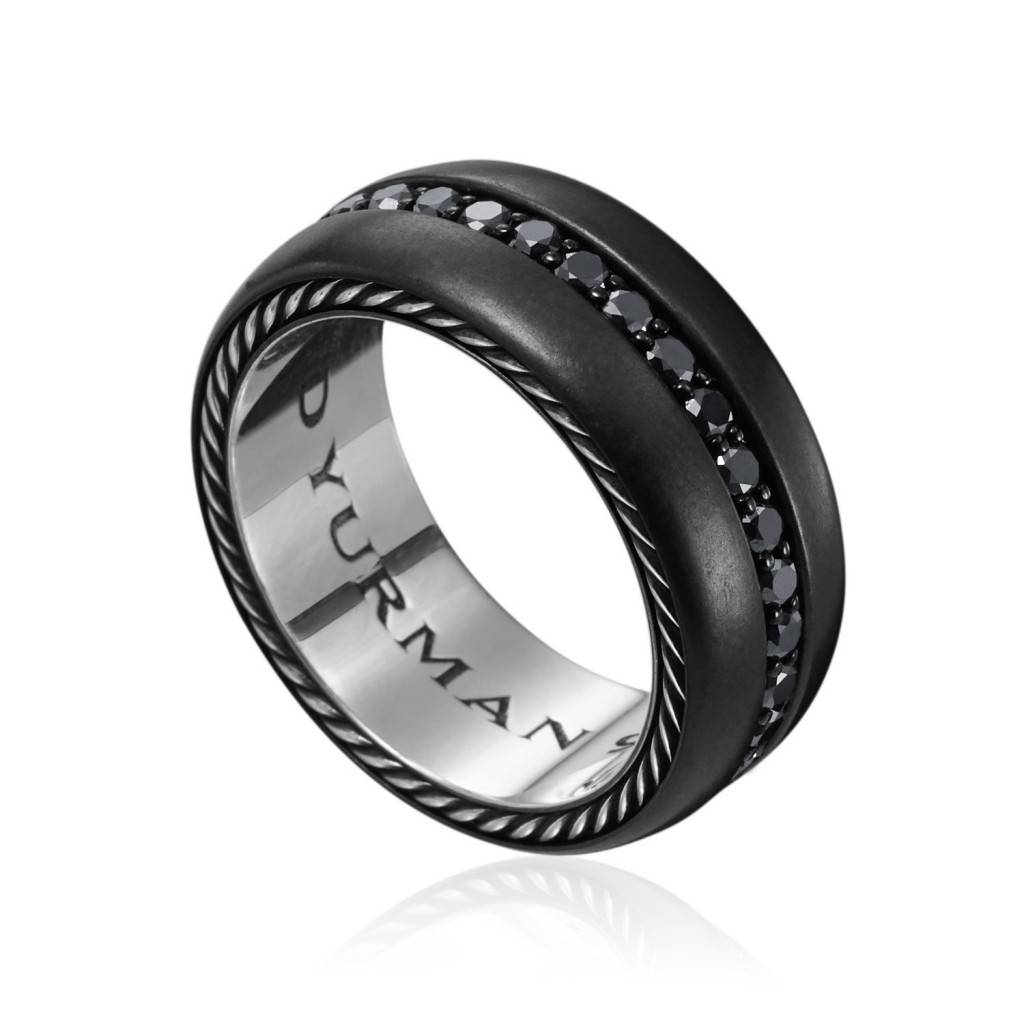 Featured Photo of Black Wedding Bands With Black Diamonds