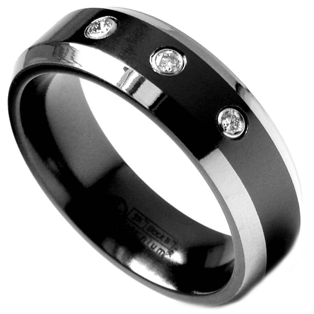 Titanium Diamond Rings For Men | Wedding, Promise, Diamond Intended For Men's Titanium Wedding Bands With Diamonds (View 10 of 15)
