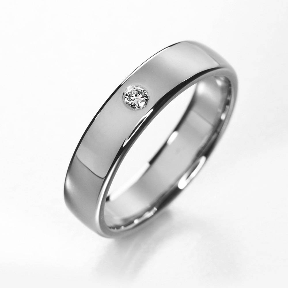Titanium Engagement Ring Simple Titanium Diamond Wedding Throughout Contemporary Wedding Rings (View 14 of 15)