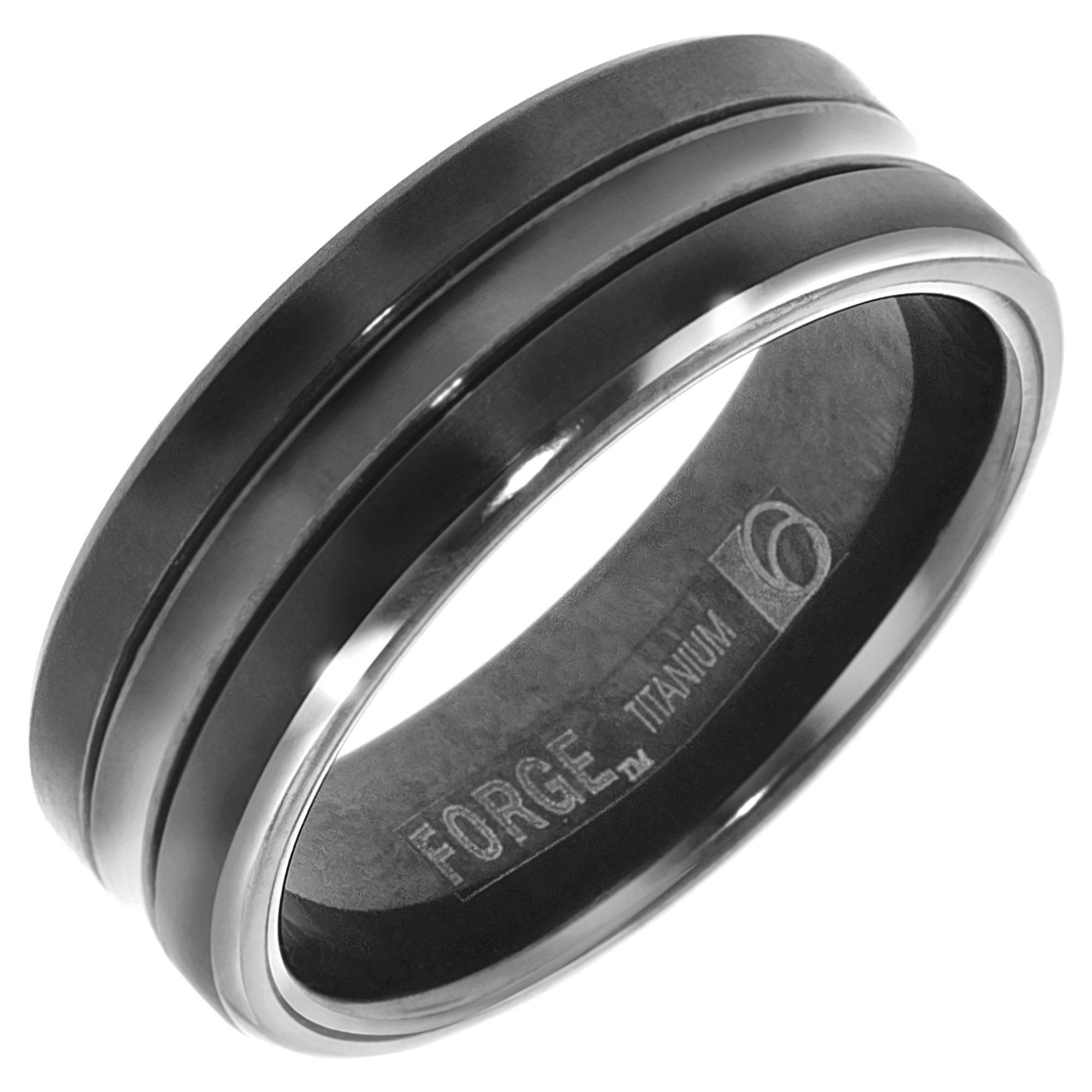 Titanium Mens Wedding Bands – Wedding Definition Ideas Throughout Black Titanium Wedding Bands For Men (View 13 of 15)