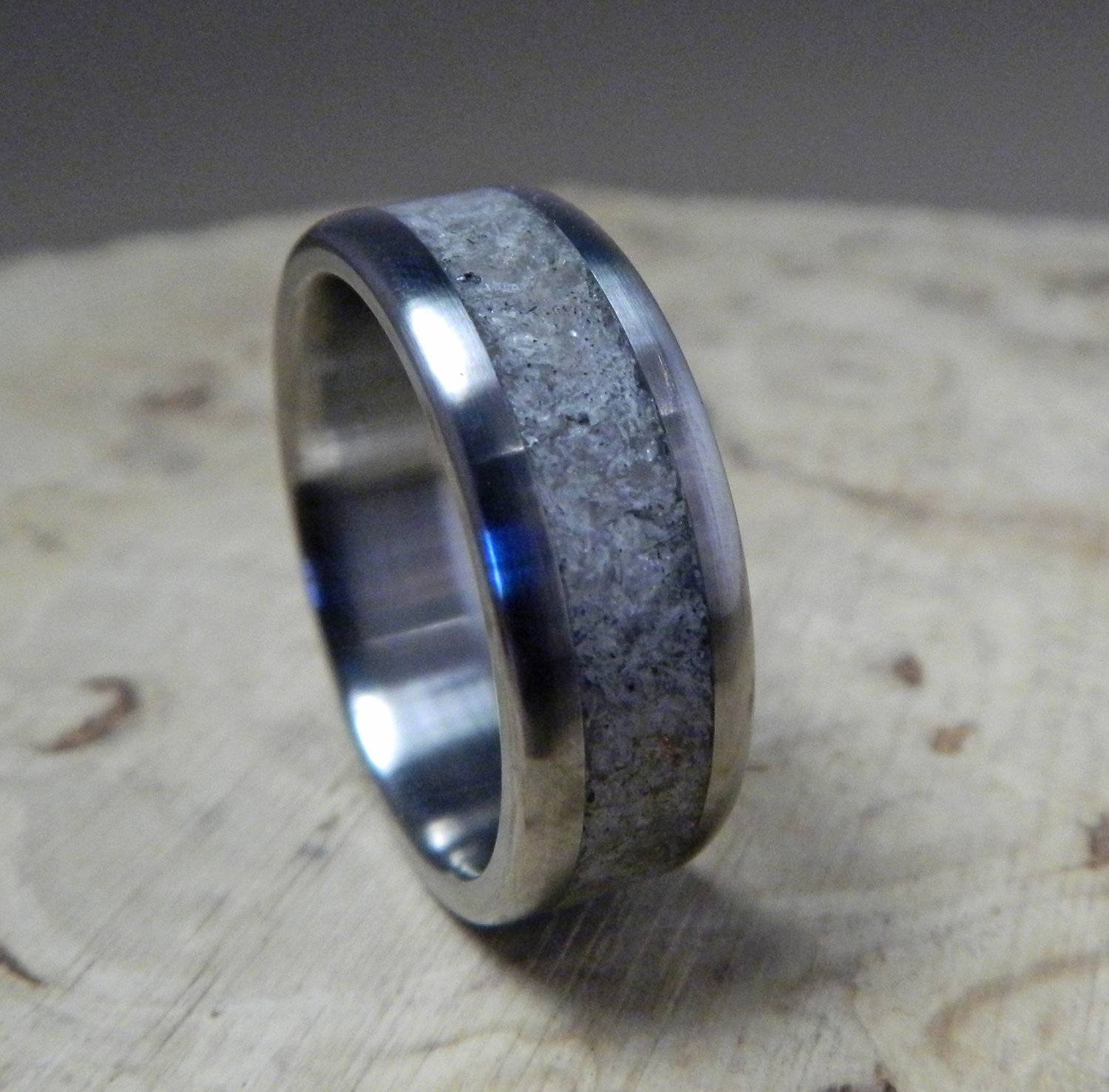 Titanium Ring, Wedding Ring, Rose Quartz Ring, Wedding Band, Mens Inside Titanium Wedding Bands (View 11 of 15)