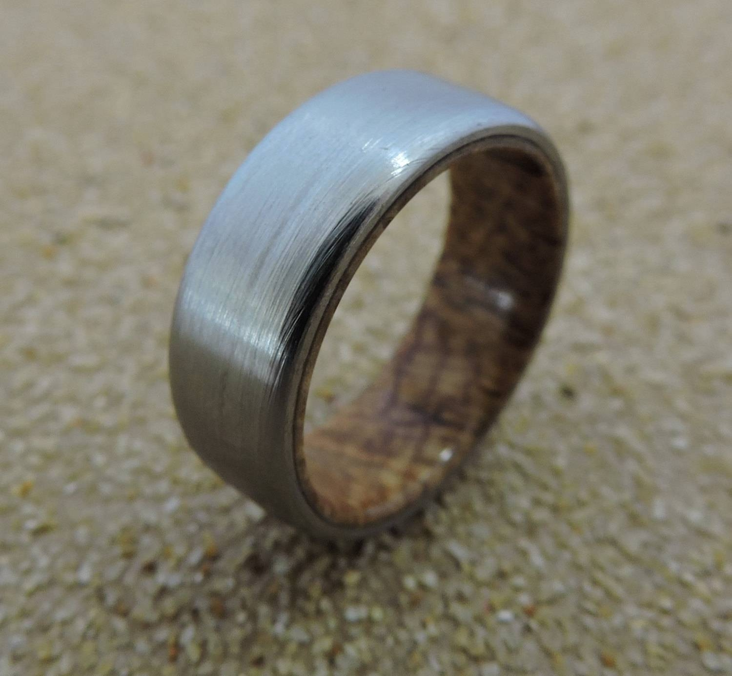 Titanium Ring, Wedding Ring, Wood Ring, Wood Inlay Ring, Black Ash In Men's Wedding Bands Wood Inlay (View 9 of 15)
