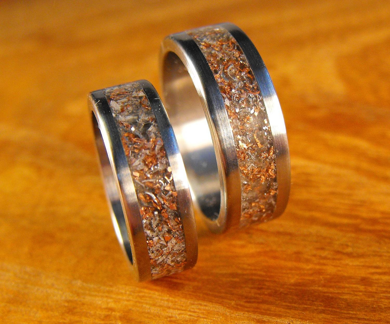 Featured Photo Of Anium Wedding Bands Sets His Hers