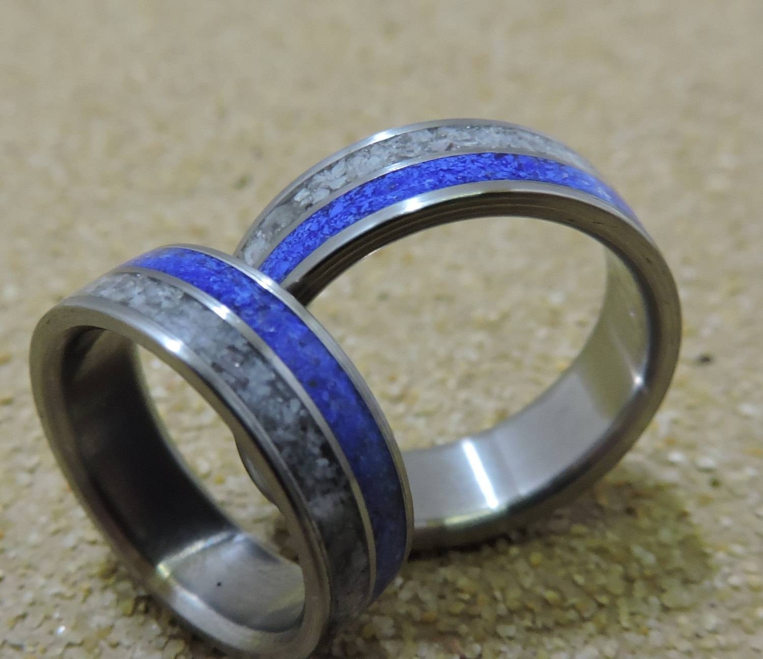 Titanium Rings, Wedding Rings, His And Hers Rings, Wedding Band Throughout Mens Handmade Wedding Bands (View 6 of 15)