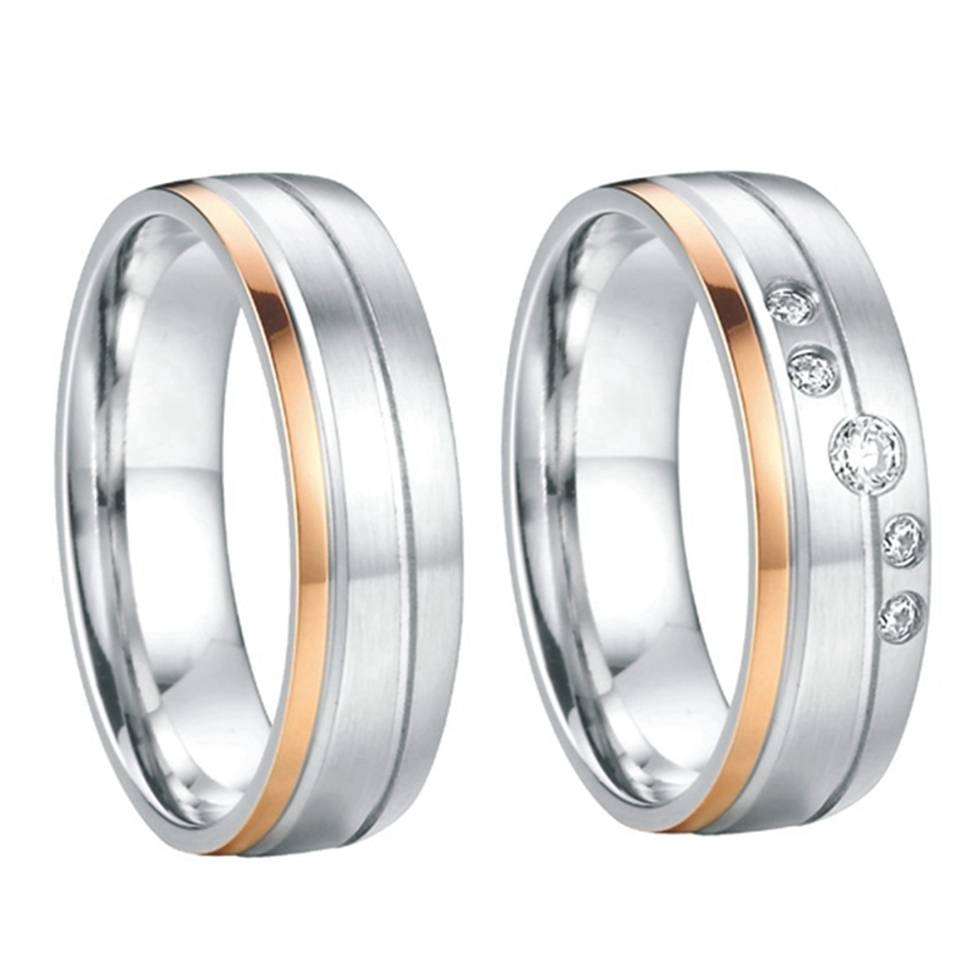 Titanium Wedding Ring Set Promotion Shop For Promotional Titanium Throughout Steel Wedding Bands (View 13 of 15)