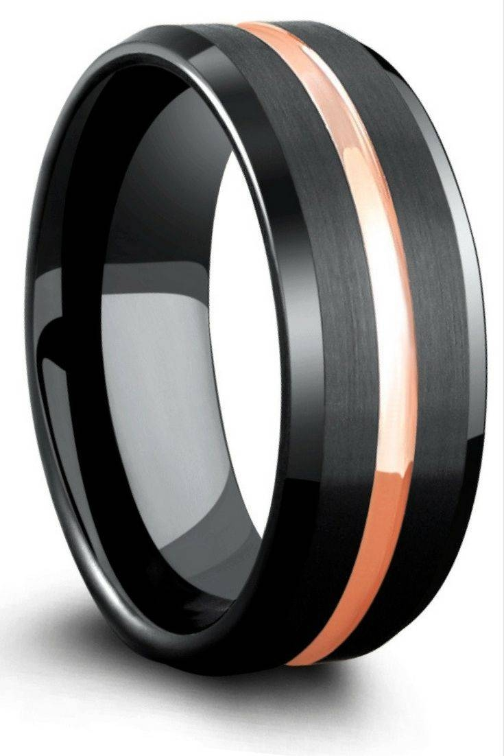 Top 25+ Best Black Tungsten Wedding Bands Ideas On Pinterest In Matte Black Men's Wedding Bands (View 13 of 15)