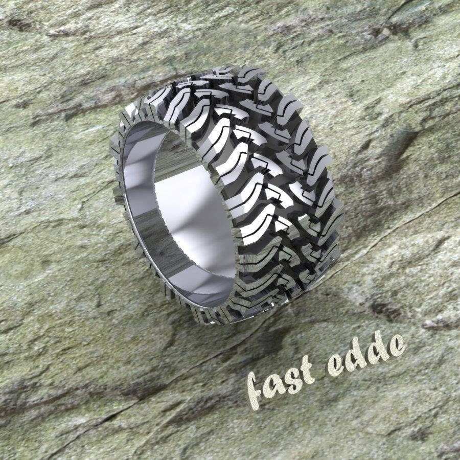 Tread Ring – Silver Or Gold | Edde Designs Intended For Tire Wedding Bands (View 15 of 15)