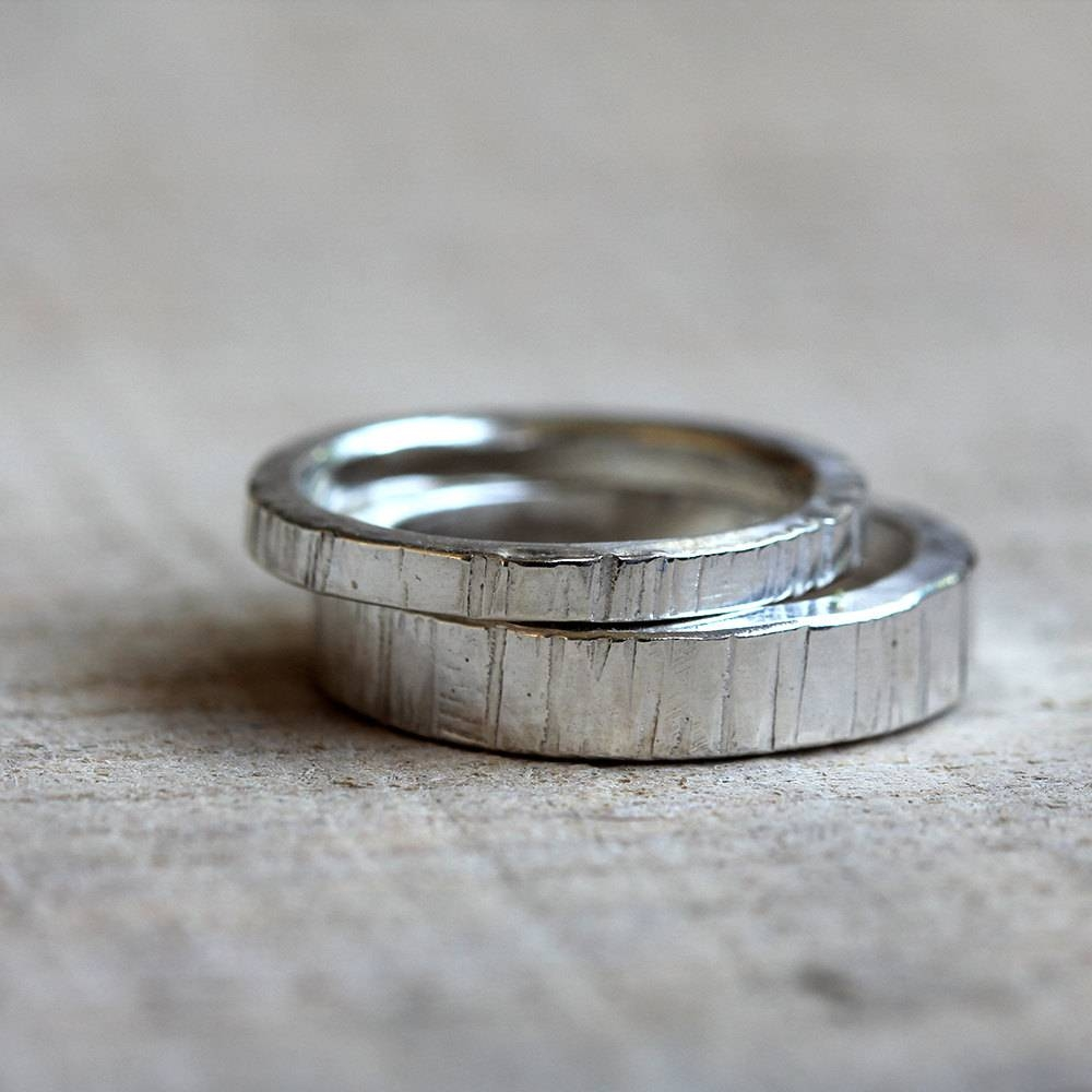 Tree Bark Wedding Ring Set Inside Tree Inspired Engagement Rings (View 10 of 15)