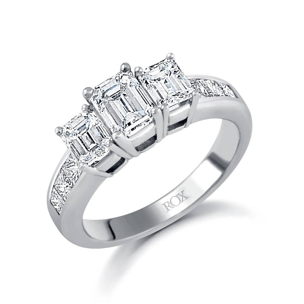 set pav product diamonds with pave ring stone three rings diamond trilogy trellis engagement
