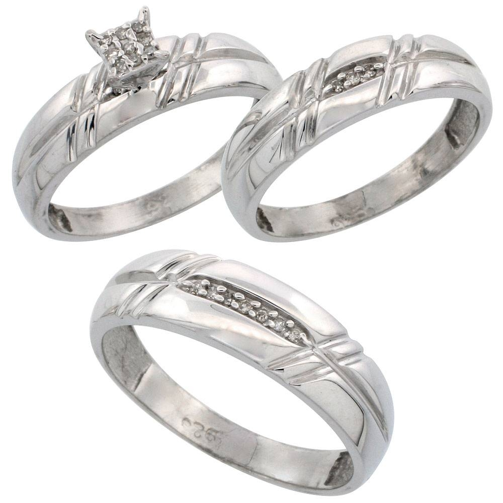 Trio Ring Sets With Trio Engagement Ring Sets (View 14 of 15)
