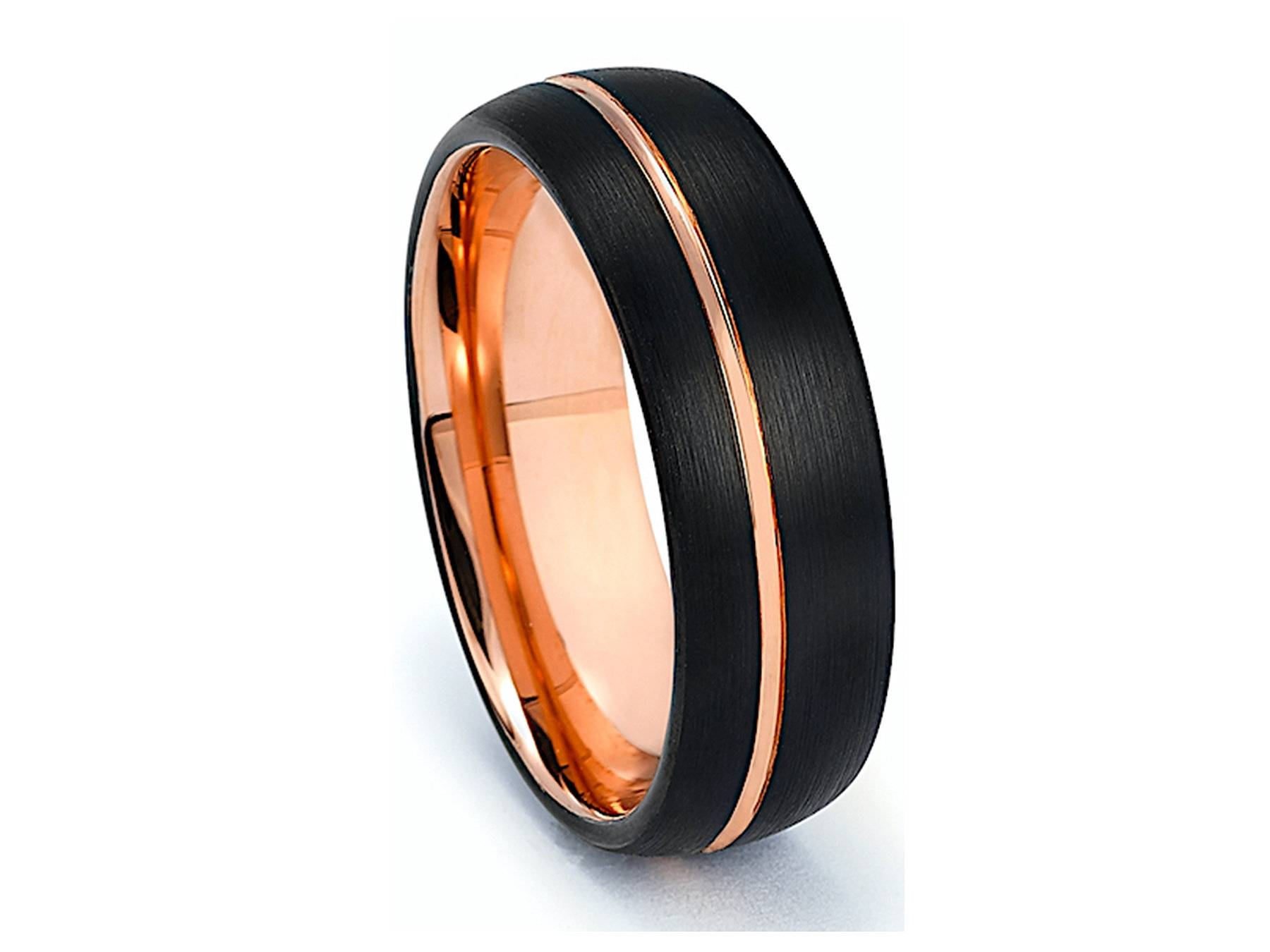 Tungsten Band, Engagement Ring, Wedding Band, Wedding Ring, Rings For Tungsten And Rose Gold Wedding Bands (View 12 of 15)