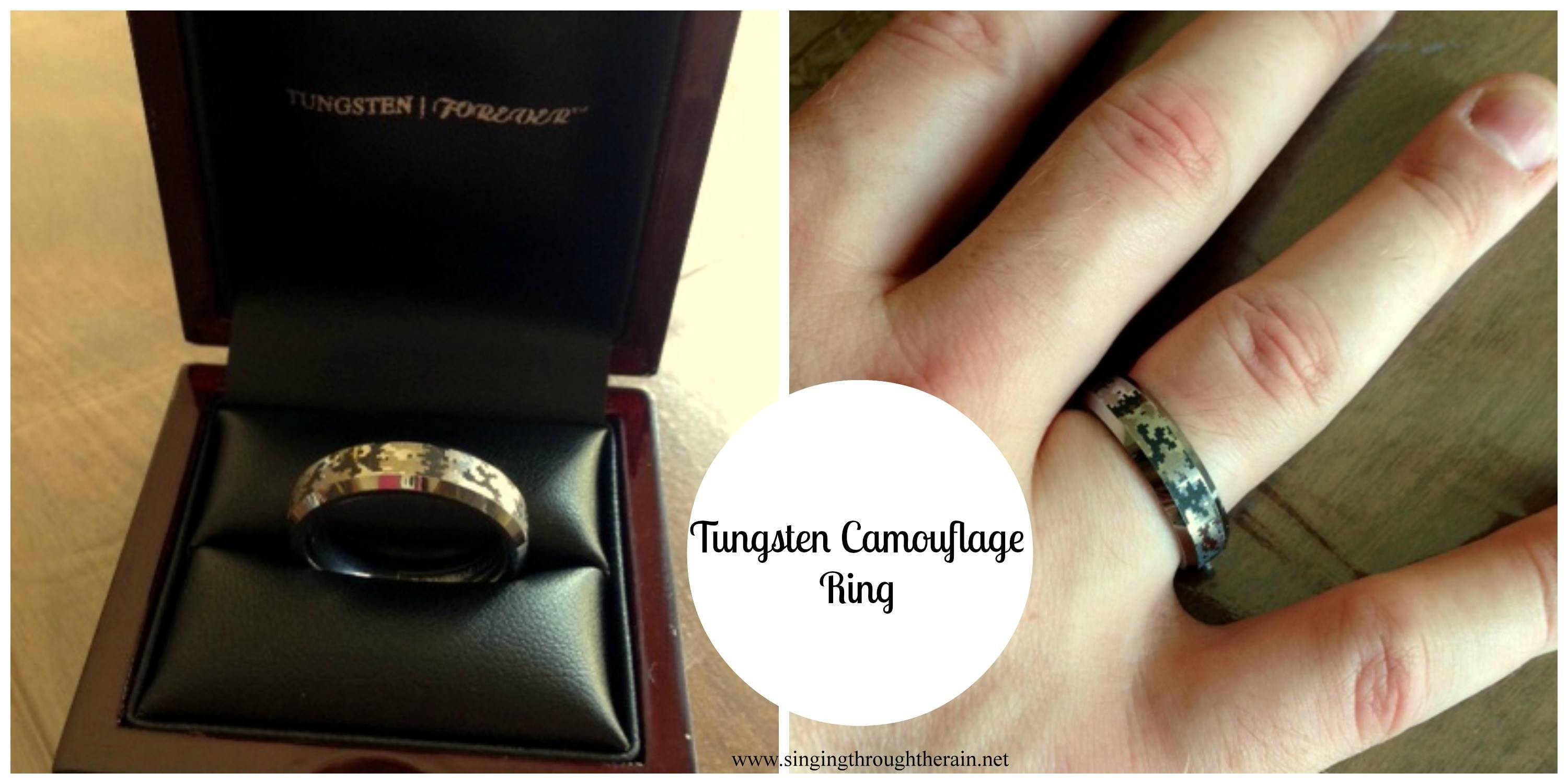 Tungsten Camouflage Ring For Military Men | Singing Through The Rain Regarding Military Wedding Rings (View 9 of 15)