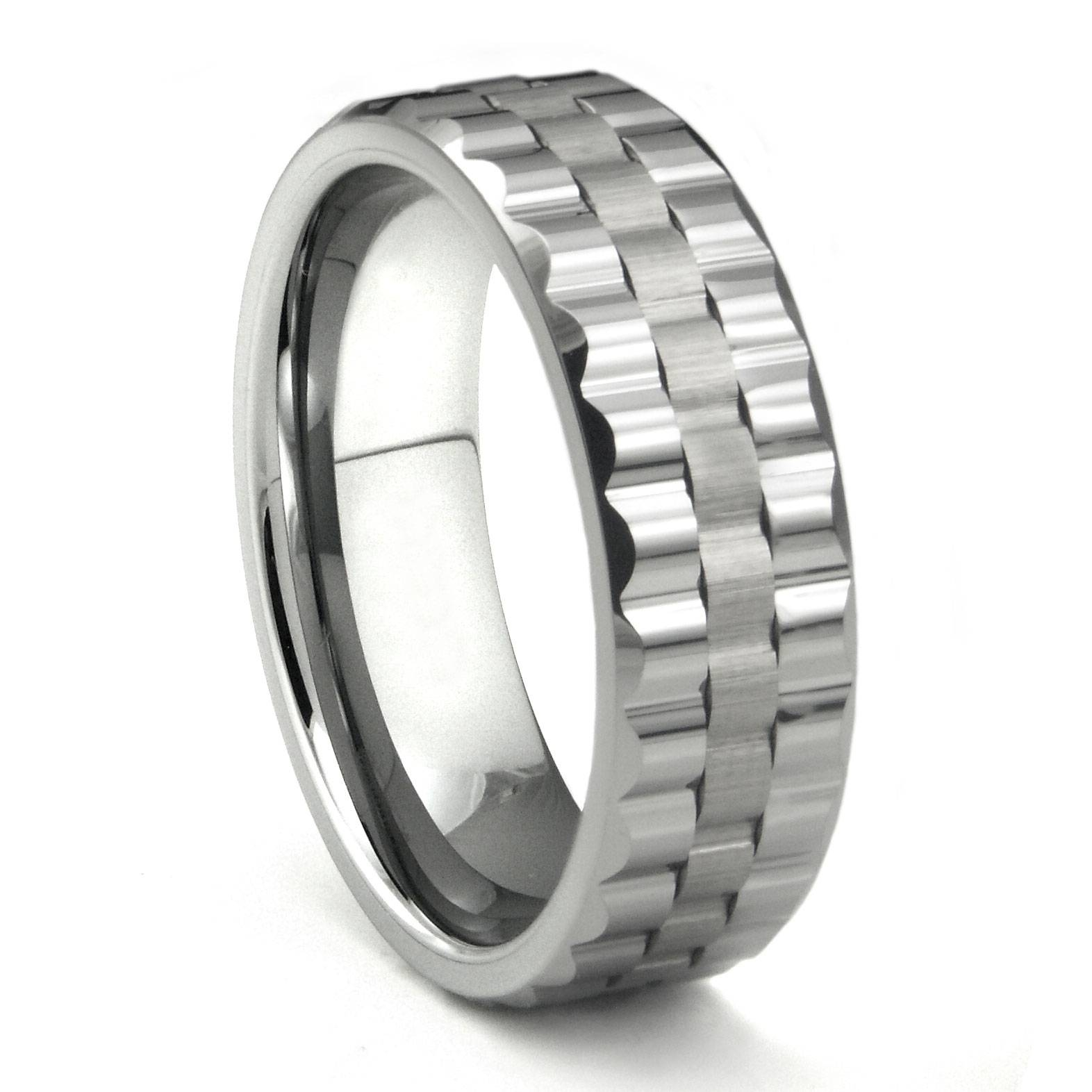 Tungsten Carbide Watchband Design Wedding Band Ring With Regard To Mens 10Mm Tungsten Wedding Bands (View 12 of 15)