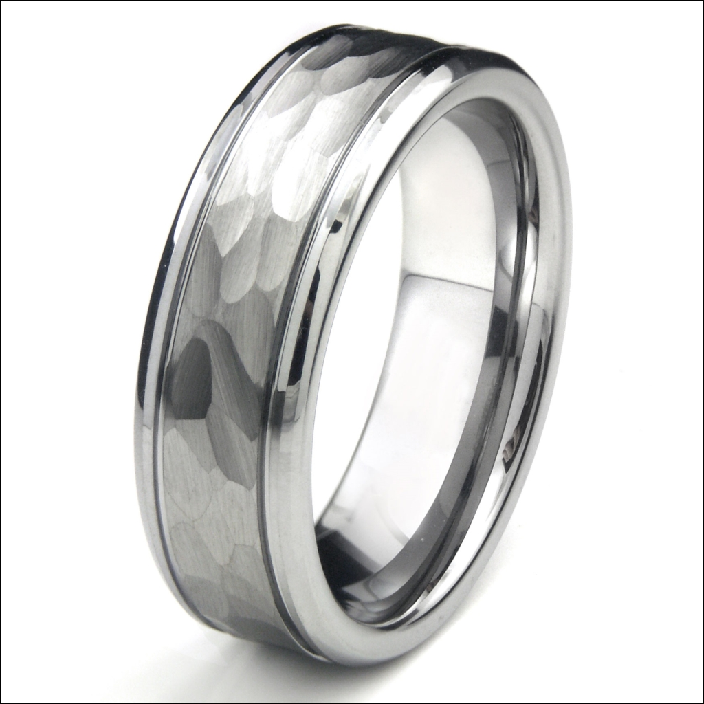 Tungsten Hammered Wedding Band | Ethemes Pertaining To Tungsten Hammered Wedding Bands (View 15 of 15)