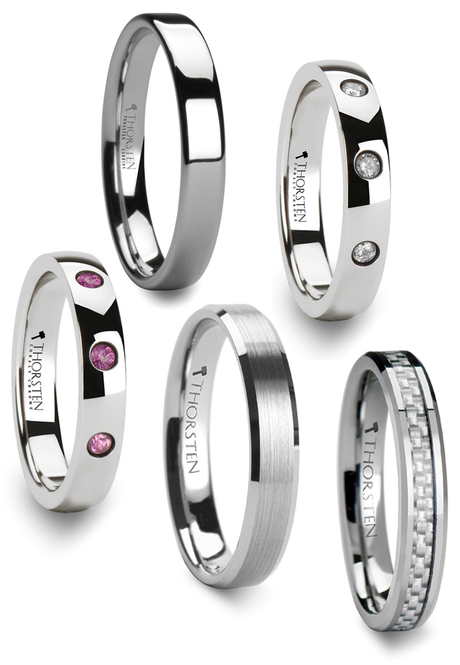 Featured Photo of Women Tungsten Wedding Bands