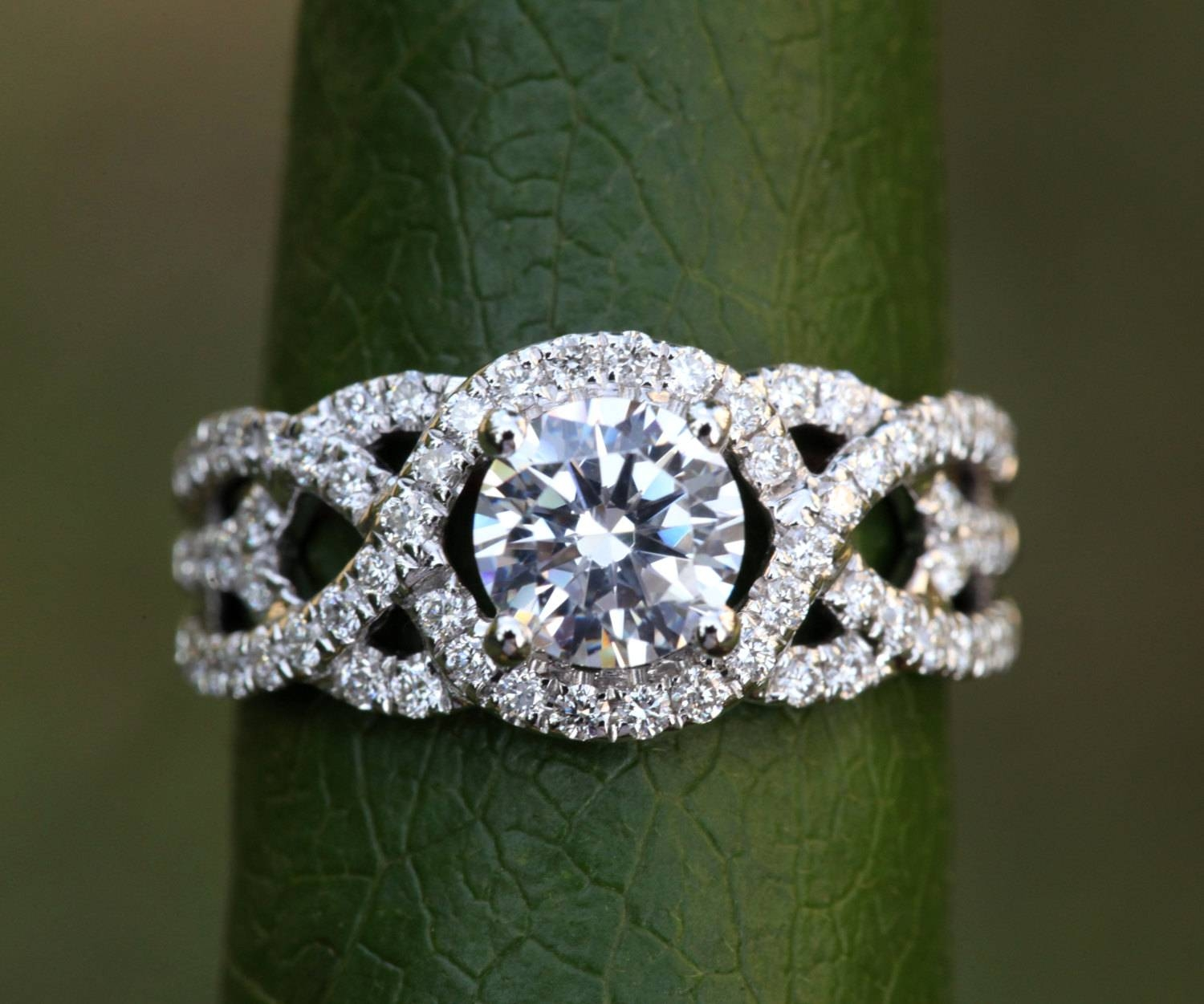 Twist Of Fate 14K White Gold Diamond Engagement Ring Within Wedding Bands For Twisted Engagement Rings (View 12 of 15)