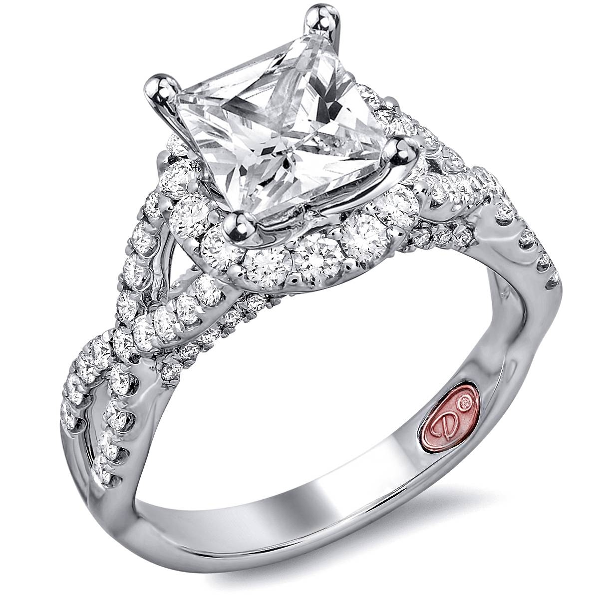 Twisted Princess Cut Engagement Rings | Demarco Bridal Jewelry Within Princess Engagement Rings (View 15 of 15)