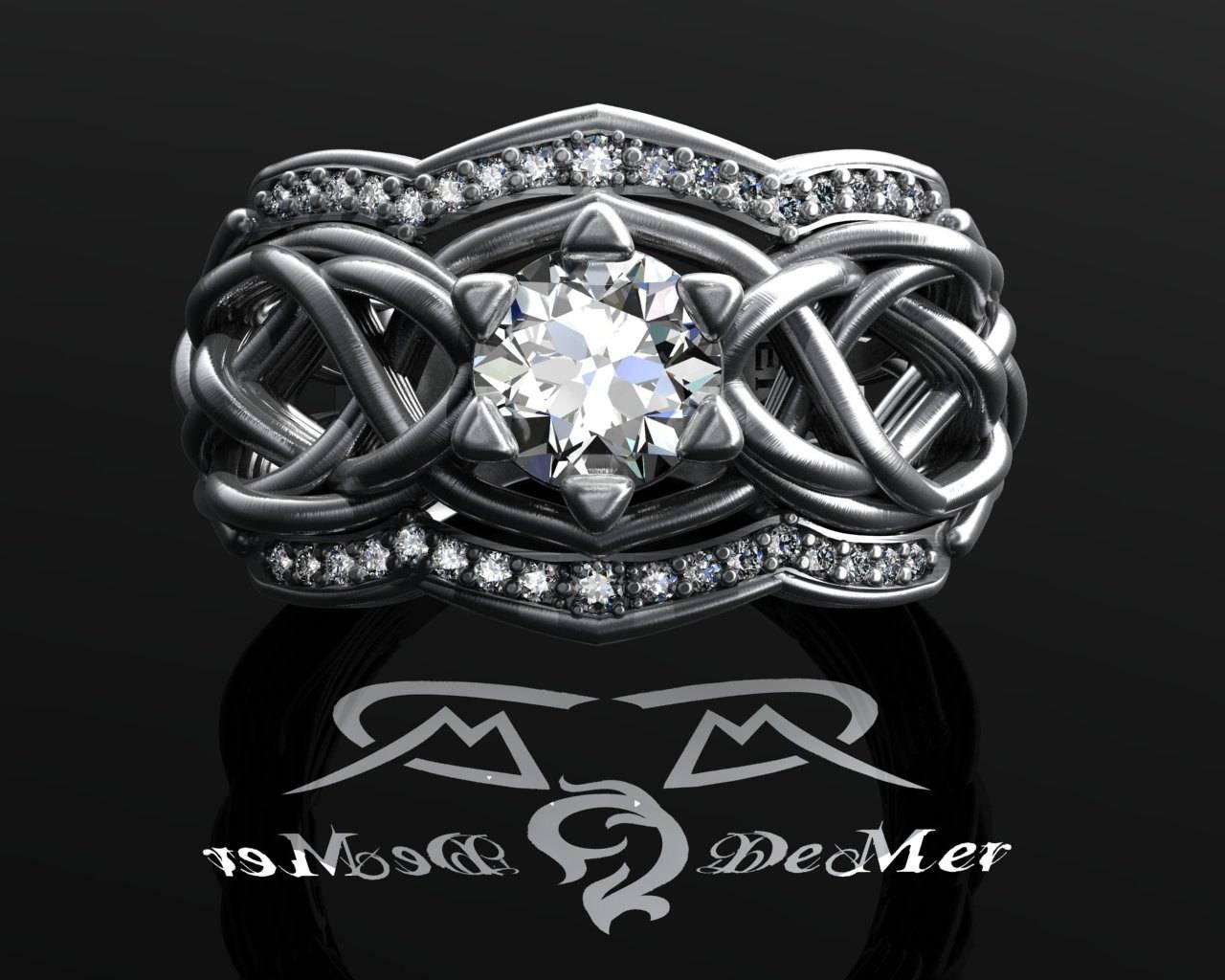 Unique Celtic Knotwork Elvish Engagement Ring.  (View 15 of 15)