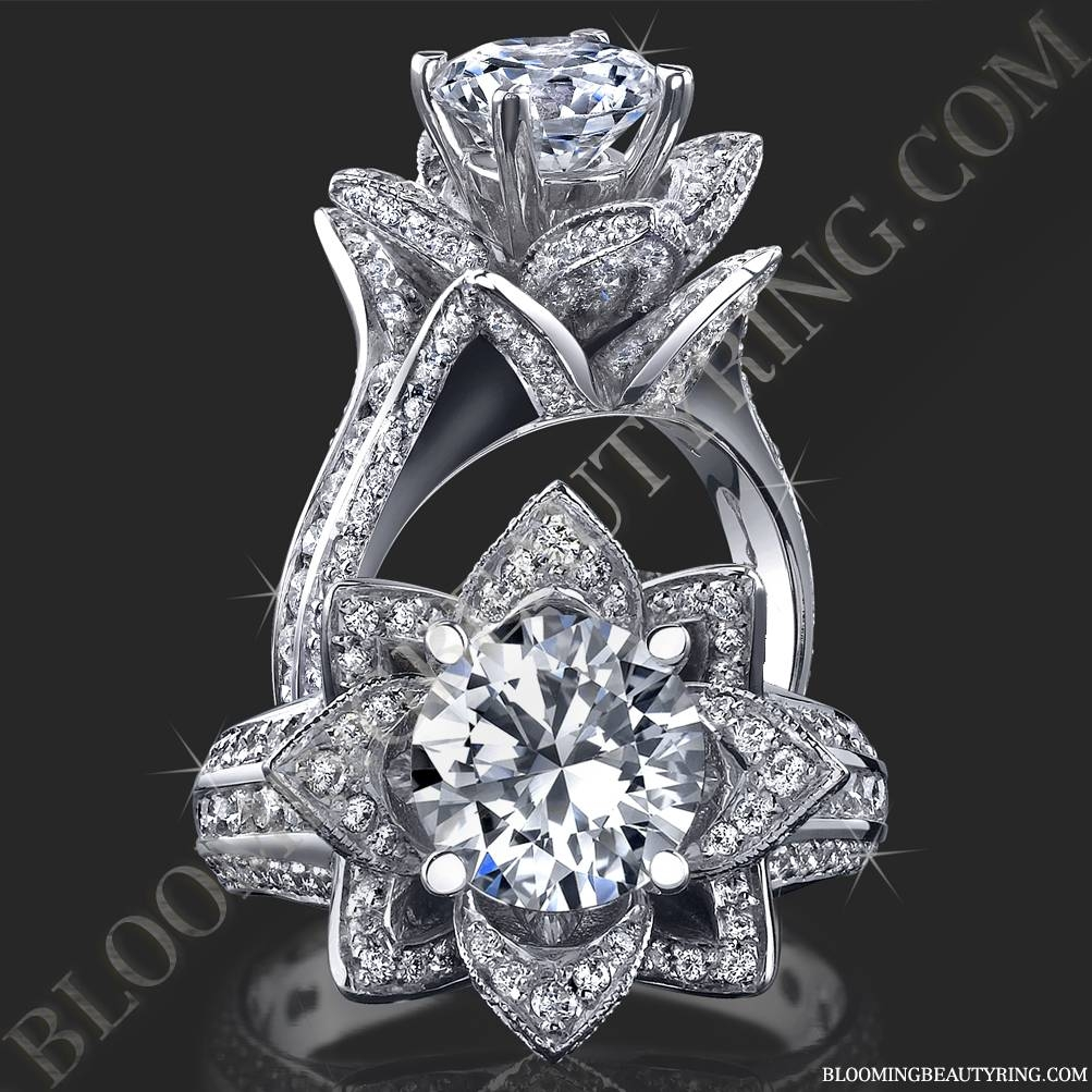 Unique Engagement Rings For Womenblooming Beauty Jewelry With Regard To Wedding Rings That Looks Like A Rose (View 9 of 15)
