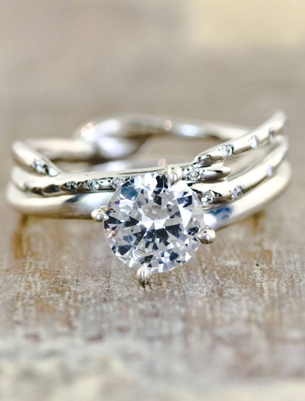 Unique Engagement Rings: Rustic Engagement Rings, Eco Friendly Inside Rustic Engagement Rings (Gallery 3 of 15)