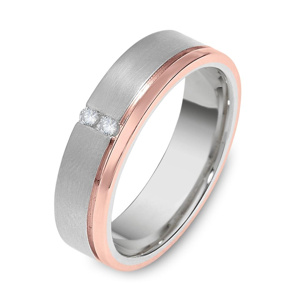 Unique Rose And White Gold Wedding Rings With Above 18k White Gold With Regard To Male Rose Gold Wedding Bands (View 10 of 15)