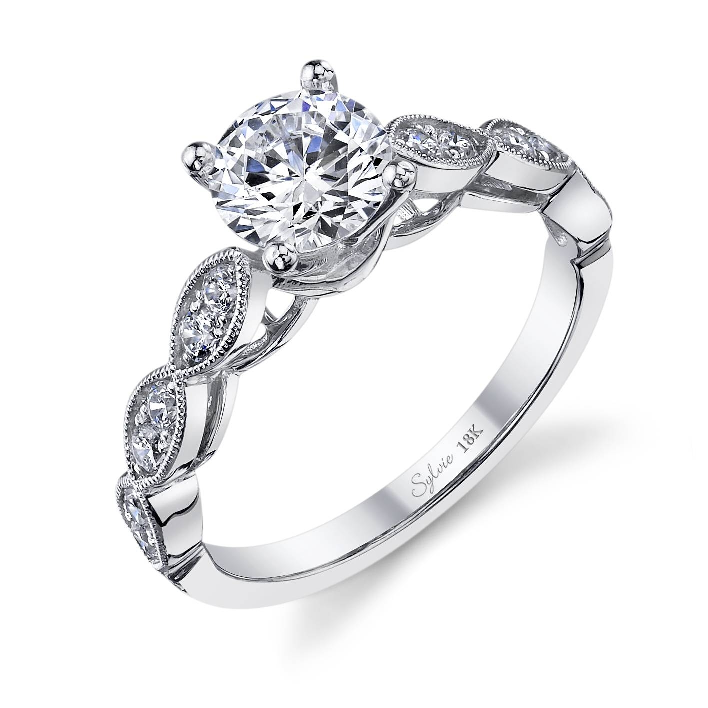 Unique Round Diamond Engagement Ring: Sylvie Collectionalexis With Tampa Engagement Rings (Gallery 1 of 15)