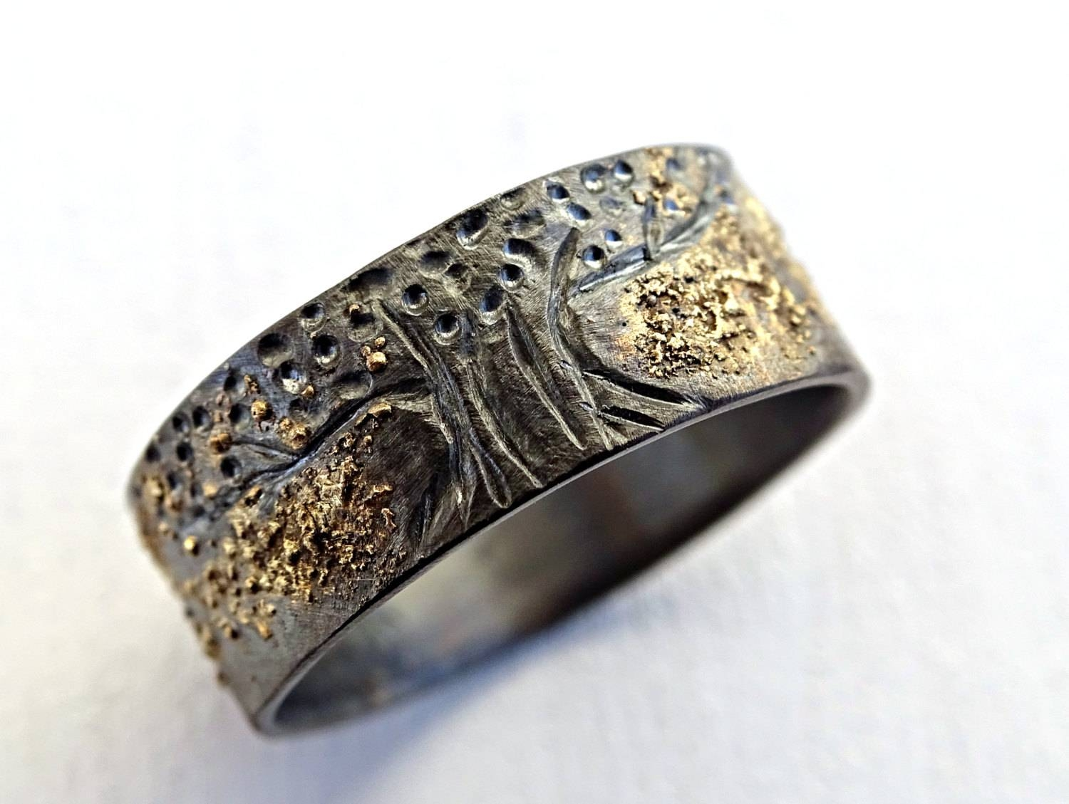 Unique Viking Ring Celtic Wedding Band Tree Of Life Ring With Viking Wedding Bands (View 7 of 15)