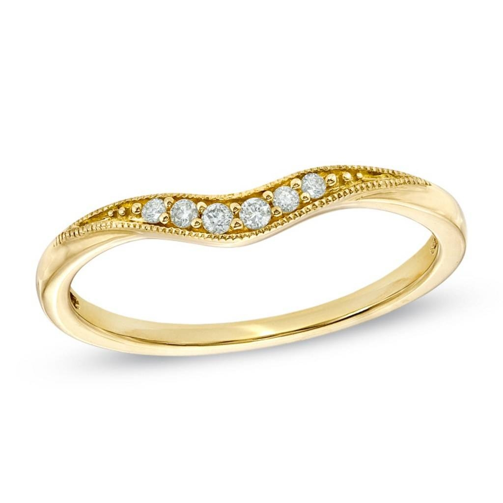 Unique Wedding Bands Under $500: Diamond, Pearl, Gold | Glamour For Zales Diamond Wedding Bands (Gallery 9 of 15)