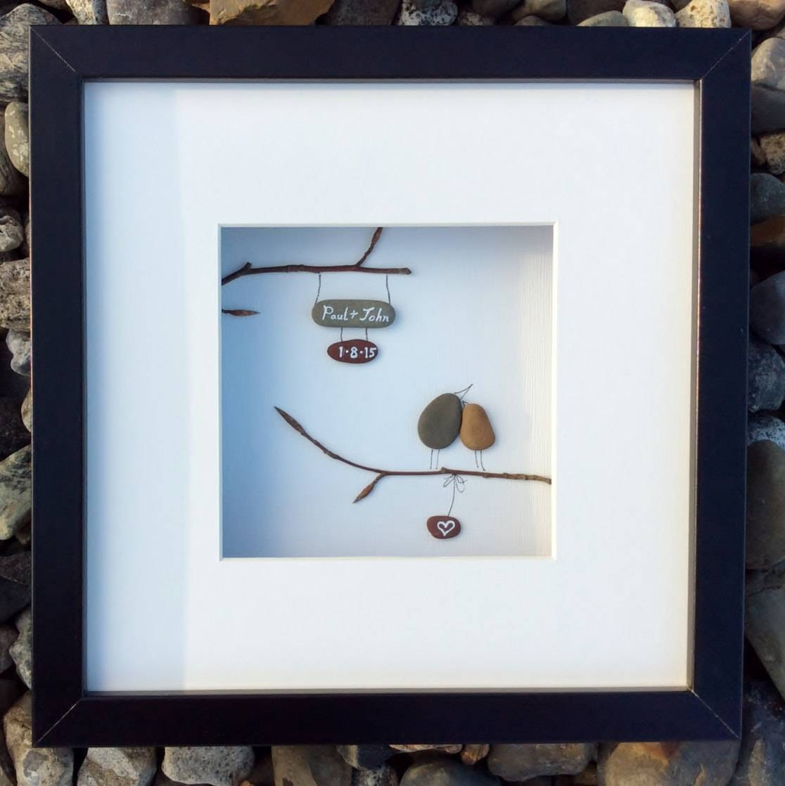 Unique Wedding Gift From Ireland Personalized Pebble Art Love With Irish Engagement Gifts (Gallery 5 of 15)