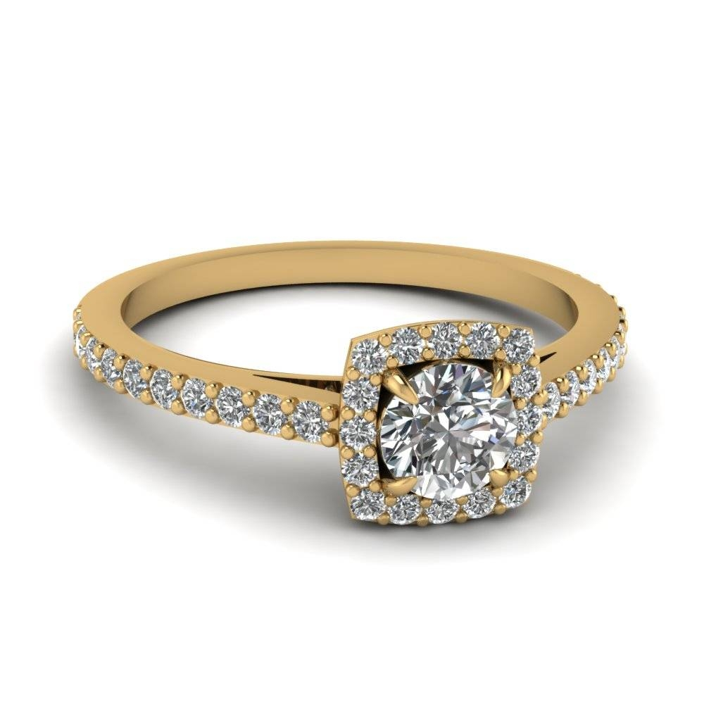 Unique Yet Affordable ½ Carat Engagement Rings | Fascinating Diamonds With Cheap Yellow Gold Wedding Rings (Gallery 9 of 15)