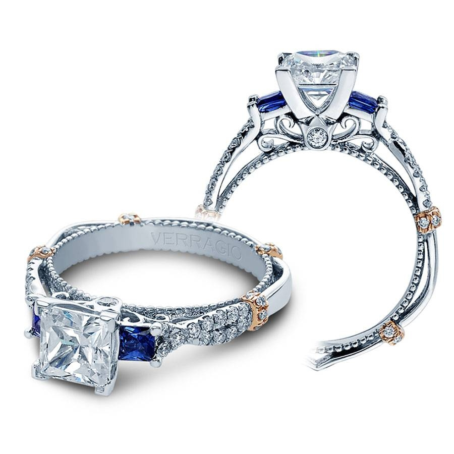 Verragio Engagement Rings Sapphire And Diamond Mounting With Regard To Engagement Rings Sapphire (Gallery 9 of 15)