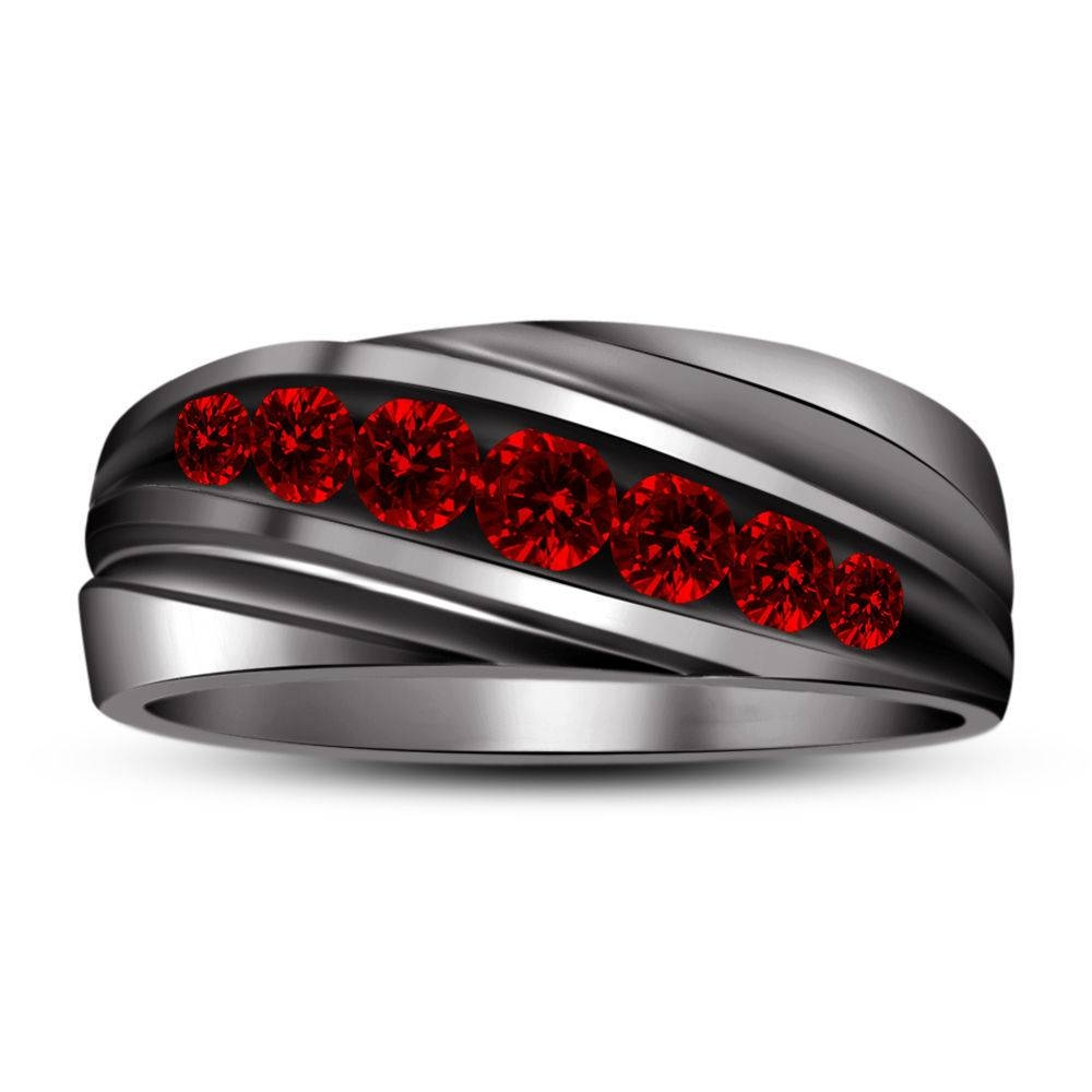 Featured Photo of Men's Garnet Wedding Bands