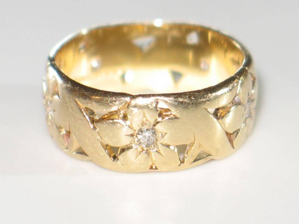 EFFY Reunion 14K Gold Gemstone amp Diamond Wide Band Ring