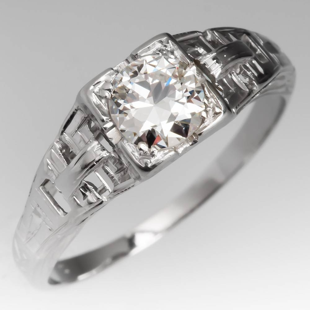 Vintage Engagement Rings | Antique Diamond Rings | Eragem Pertaining To Inset Engagement Rings (View 14 of 15)