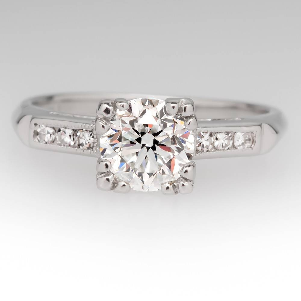 Vintage Engagement Rings | Antique Diamond Rings | Eragem Pertaining To Old Fashioned Style Wedding Rings (View 9 of 15)