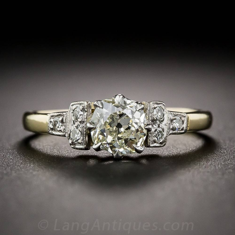 Vintage English .65 Carat Mine Cut Diamond Ring Throughout English Engagement Rings (Gallery 3 of 15)