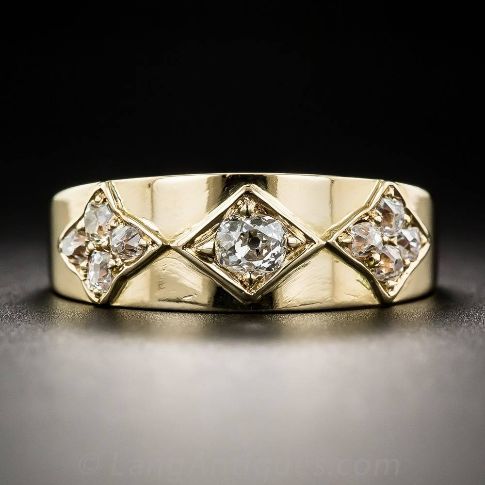 Vintage English Diamond Band Ring – Archive Throughout English Engagement Rings (Gallery 7 of 15)