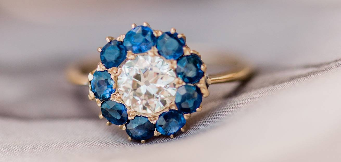 Vintage Sapphire Engagement Rings | Trumpet & Horn Regarding Saffire Engagement Rings (Gallery 14 of 15)
