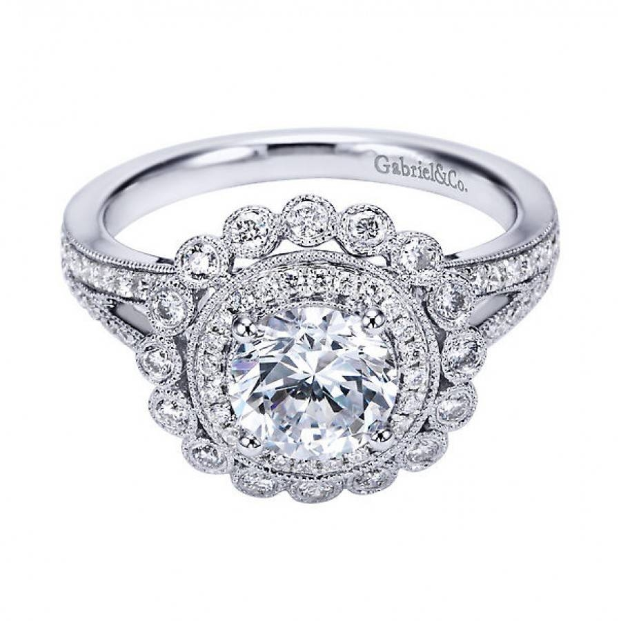 Vintage Style Engagement Ring Settings | Wedding, Promise, Diamond Intended For Vintage Wedding Rings Settings (View 14 of 15)